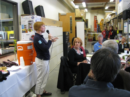 Speaker Lizzie Giles from Energy Trust, spoke on the topic of Solar Energy.