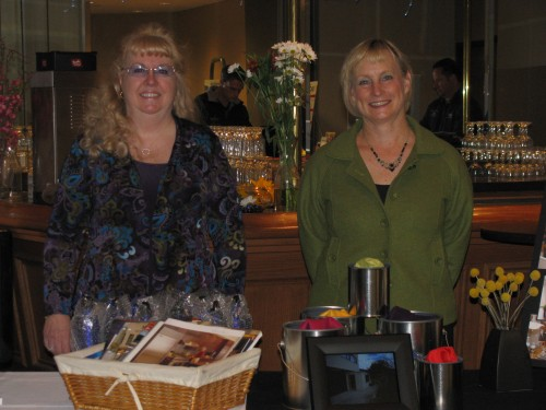 Glenda McAdam of Standard TV and Appliance and Kathy Fuller of Fuller Spaces