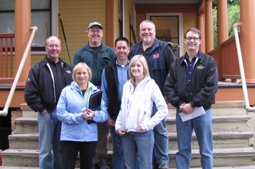 Mitch Stanley (Stanley Home Renovation and Design), Jim Bruce (JB Construction), Steve Stolze (SLS Custom Homes), Lane Cooper (COOPER Designbuilder), Mark Tracy (Chelsea Audio Video), Kathy Fuller (Fuller Spaces) and Sarah Olson (Remodelers Council Coordinator)