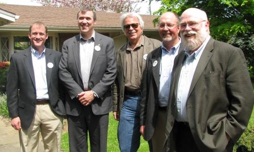 Dave Nielsen, Senator Jeff Merkley, Tom Skarr, Mitch Stanley, Jon Chandler