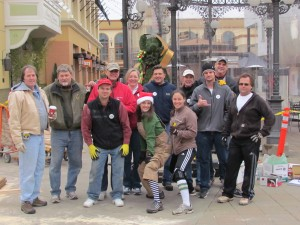 Members of the Professional Remodelers Organization at the PRO Santa House build