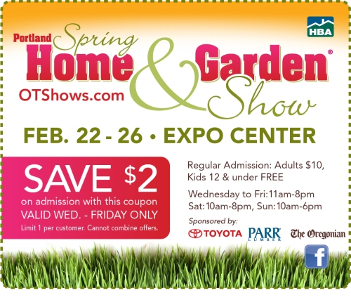 2 Off Weekday Coupon To The Portland Spring Home Garden